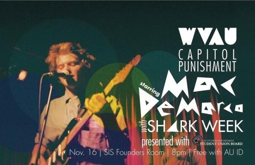 WVAU and SUB to bring Mac DeMarco, Shark Week to AU