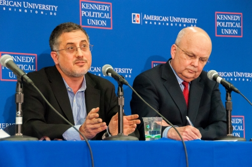 Journalist and former NSA chief debate security and privacy