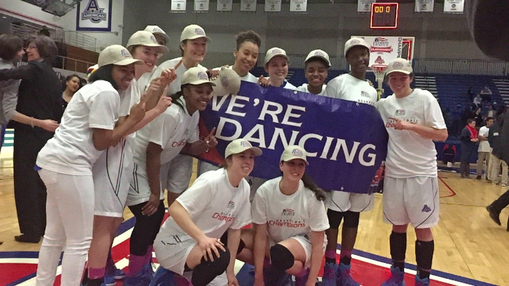 Womens' Basketball wins first Patriot League Championship in school history