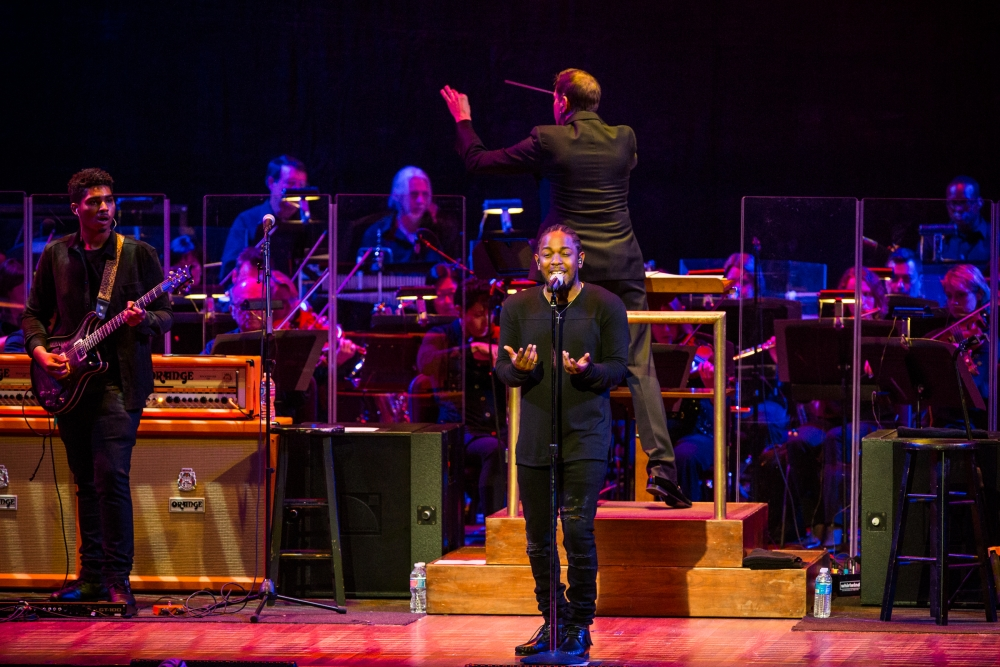 Kendrick Lamar, National Symphony Orchestra deliver an intimate performance at Kennedy Center
