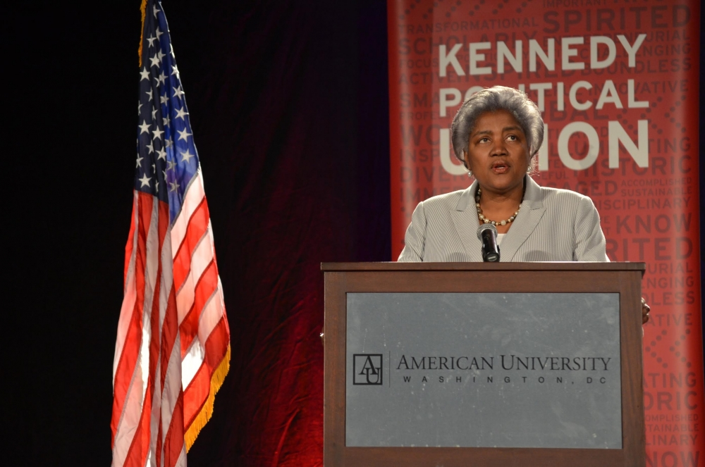 "Donna Brazile accepts ""Wonk of the Year"" Award"