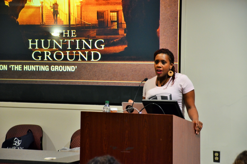 Survivor and Title IX activist Wagatwe Wanjuki shares her story at AU