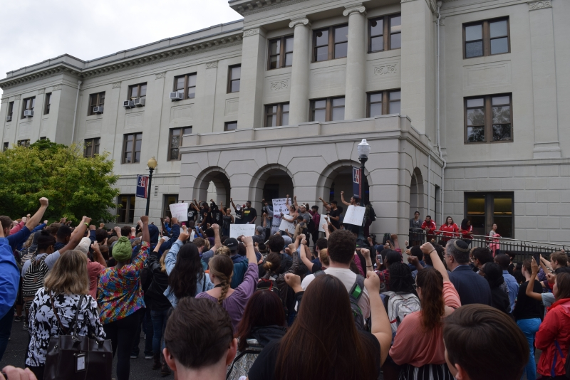 a black student alliance bsa protest on racism against the minorities on campus 2015-12-14 who was the spokesman for the university's black student alliance (bsa)  reflects on black students' demands,  racism in all its forms on this campus.