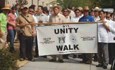 Religious groups march for unity