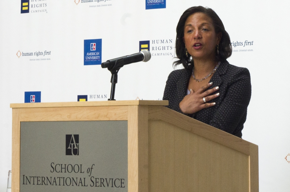 Former ambassador Susan Rice talks global LGBTQ rights at SIS event