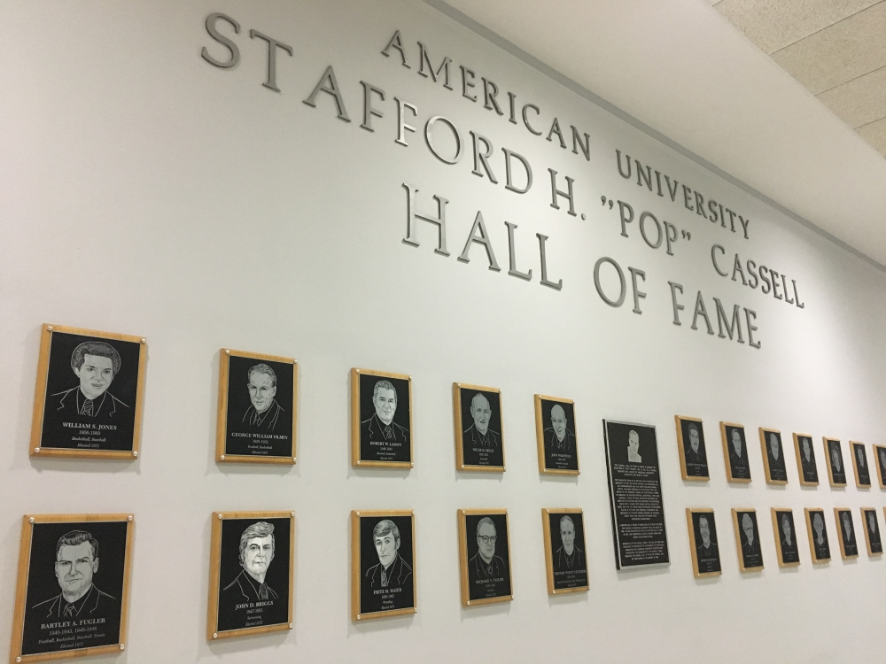 Three Eagle athletes to be inducted into AU Athletics' Hall of Fame