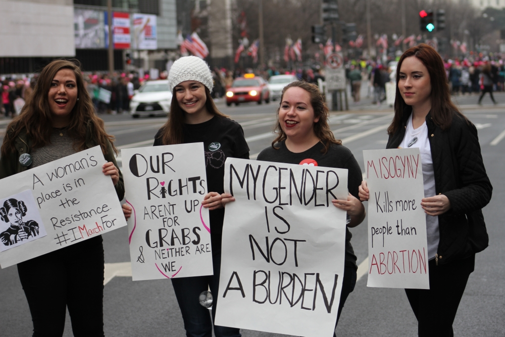 Straight from print: AU aims to archive artifacts from Women's March on Washington