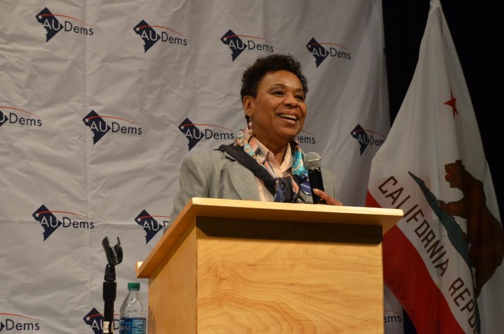 Congresswoman Barbara Lee visits AU