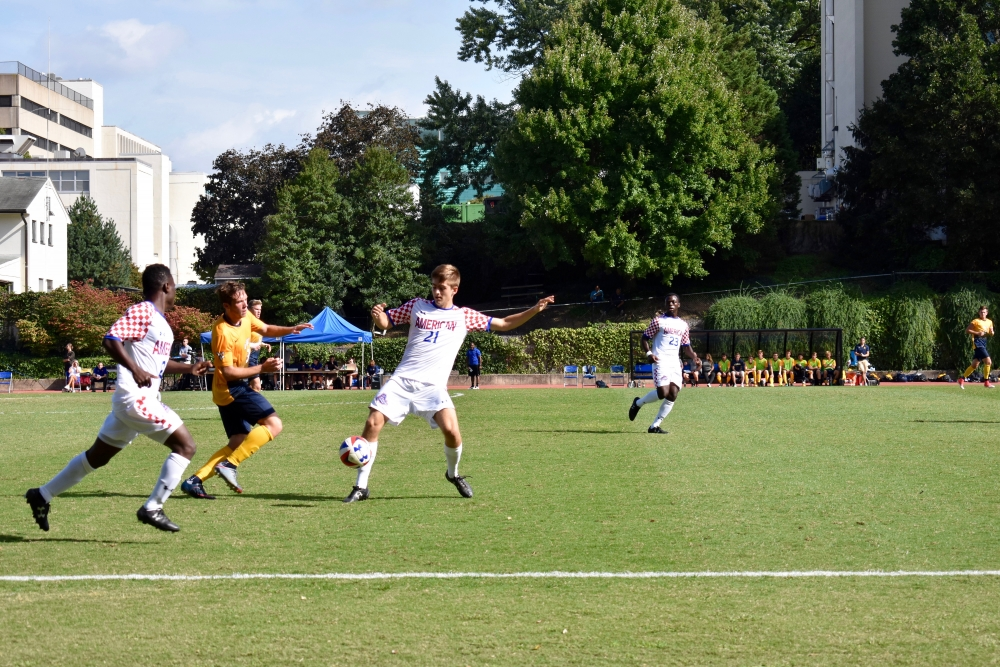 Men's soccer falls to BU in Patriot League Opener