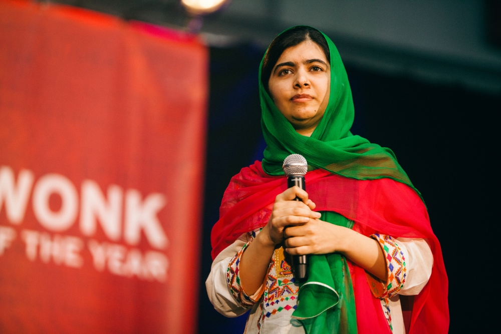 Malala Yousafzai accepts Wonk of the Year award