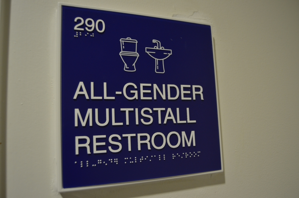 Gender neutral multi-stall bathroom added to second floor of Mary Graydon Center