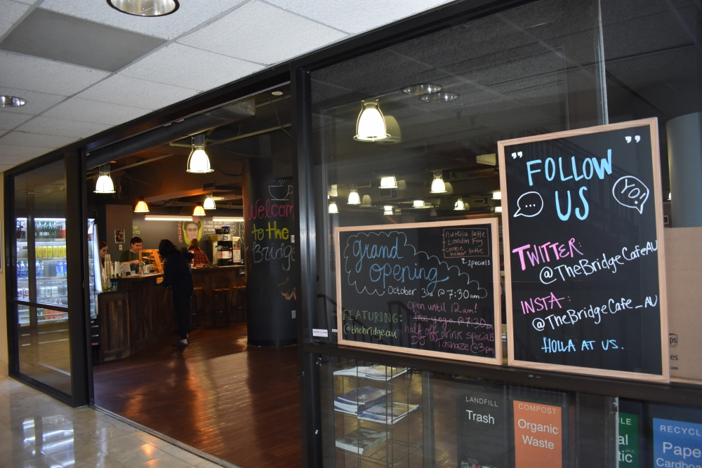 The Bridge Cafe opens coffee bar to students Tuesday