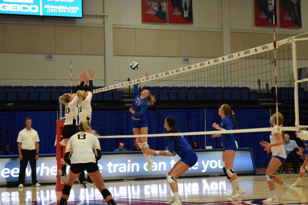 Volleyball sweeps Delaware State for third straight win