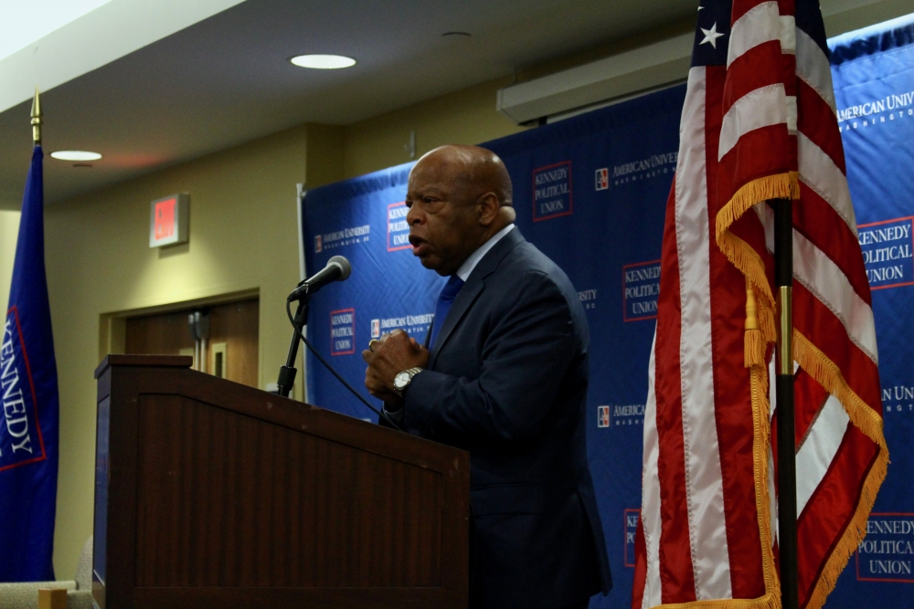 Civil rights icon John Lewis addresses students at summit