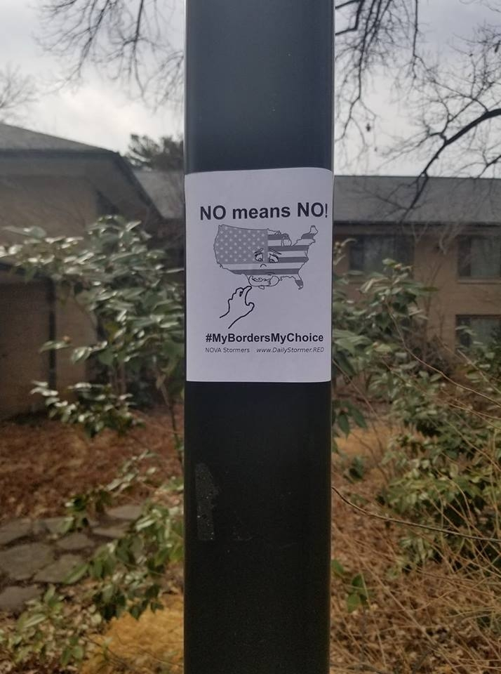 Eight anti-immigration flyers posted at American University