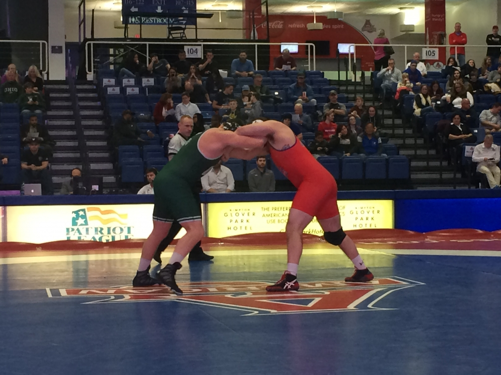 Wrestling closes out regular season with victory