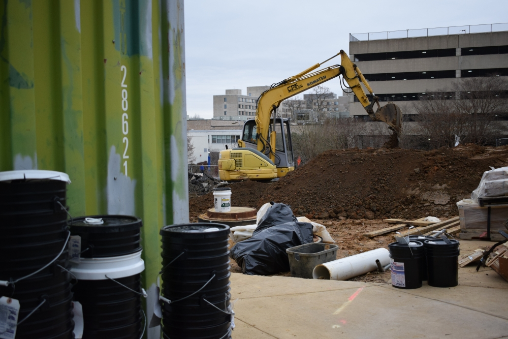 Ongoing construction outside McKinley building has end goals: new heating system, Hall of Science