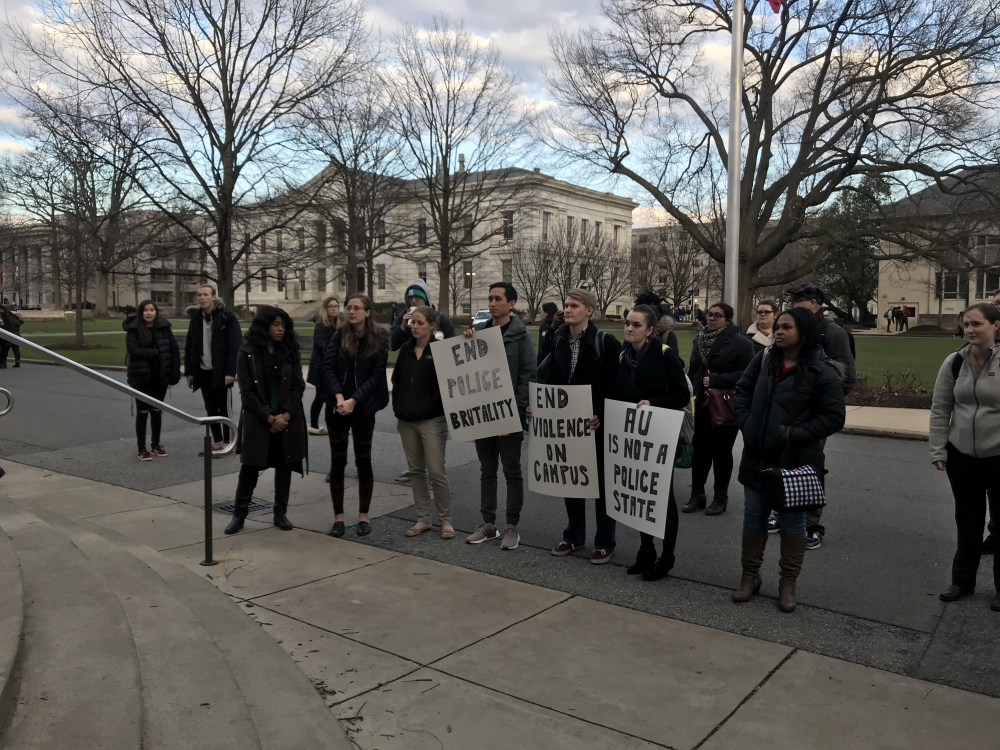 Students protest arrest of graduate student