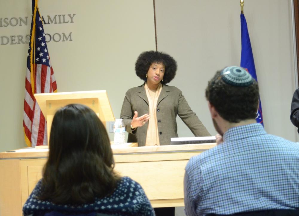 Jewish activist Yavilah McCoy speaks about forging relationships through diversity