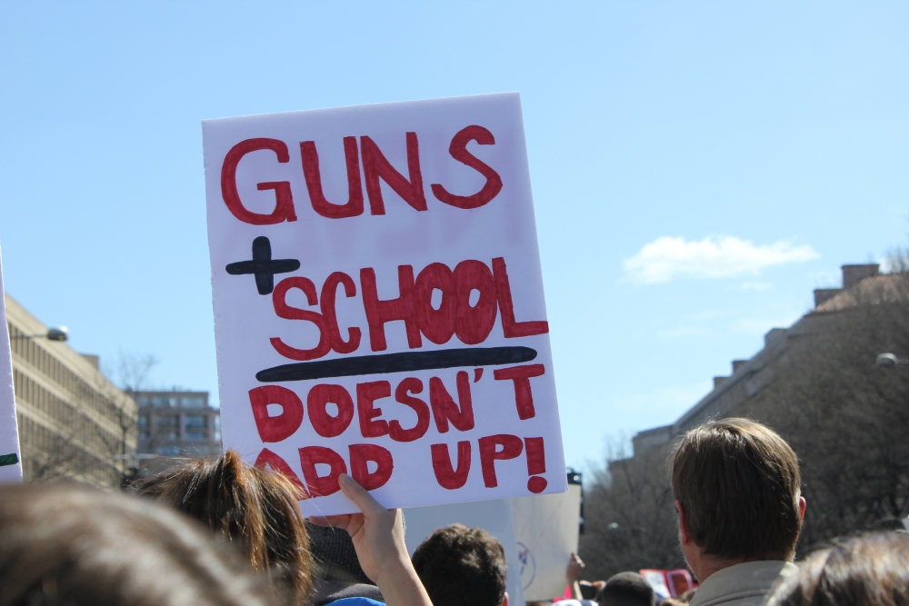 AU students join calls to end gun violence at March for Our Lives