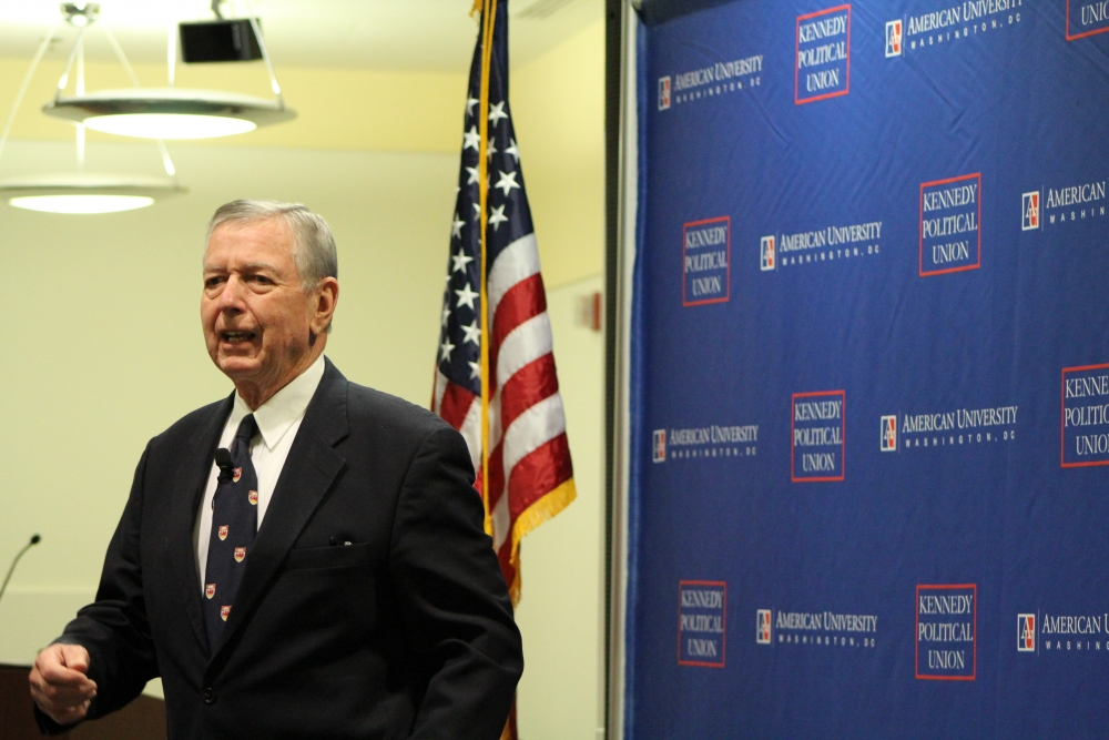 Former attorney general John Ashcroft talks national security at KPU event