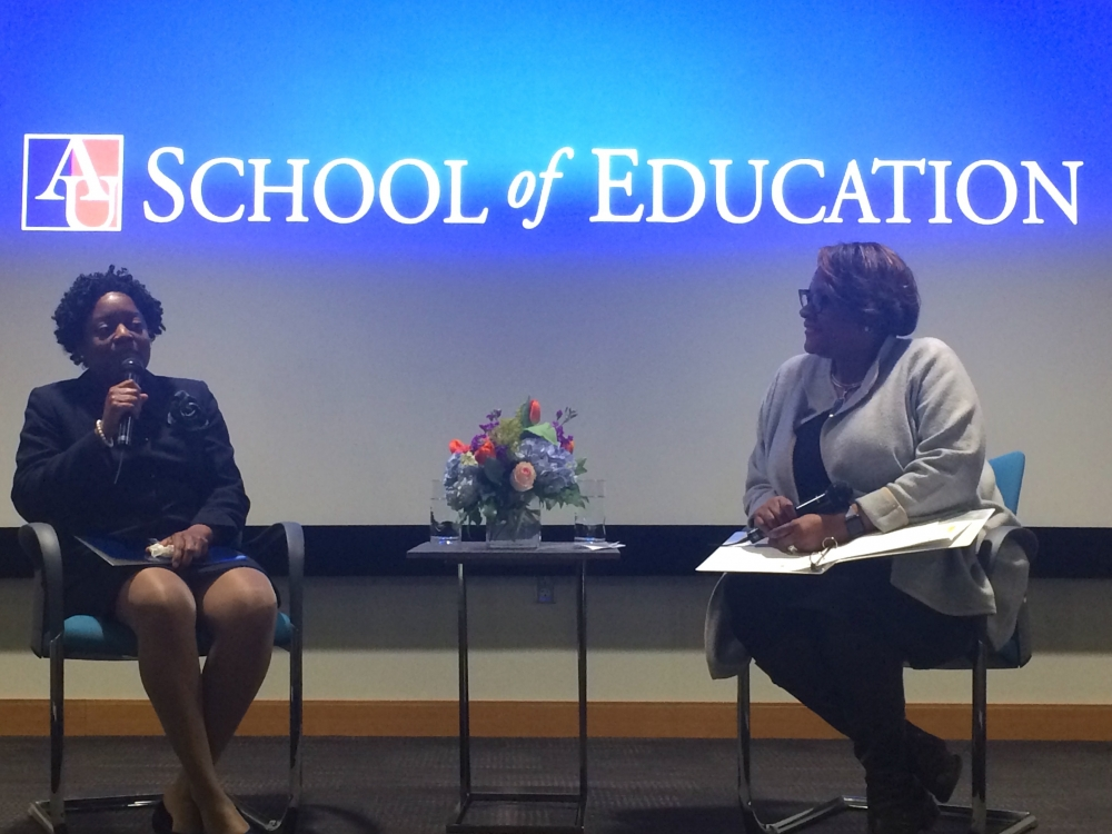 School of Education hosts interim D.C. schools chancellor and AU alumna Amanda Alexander