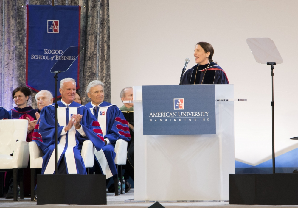 Burwell inaugurated as president in Bender Arena