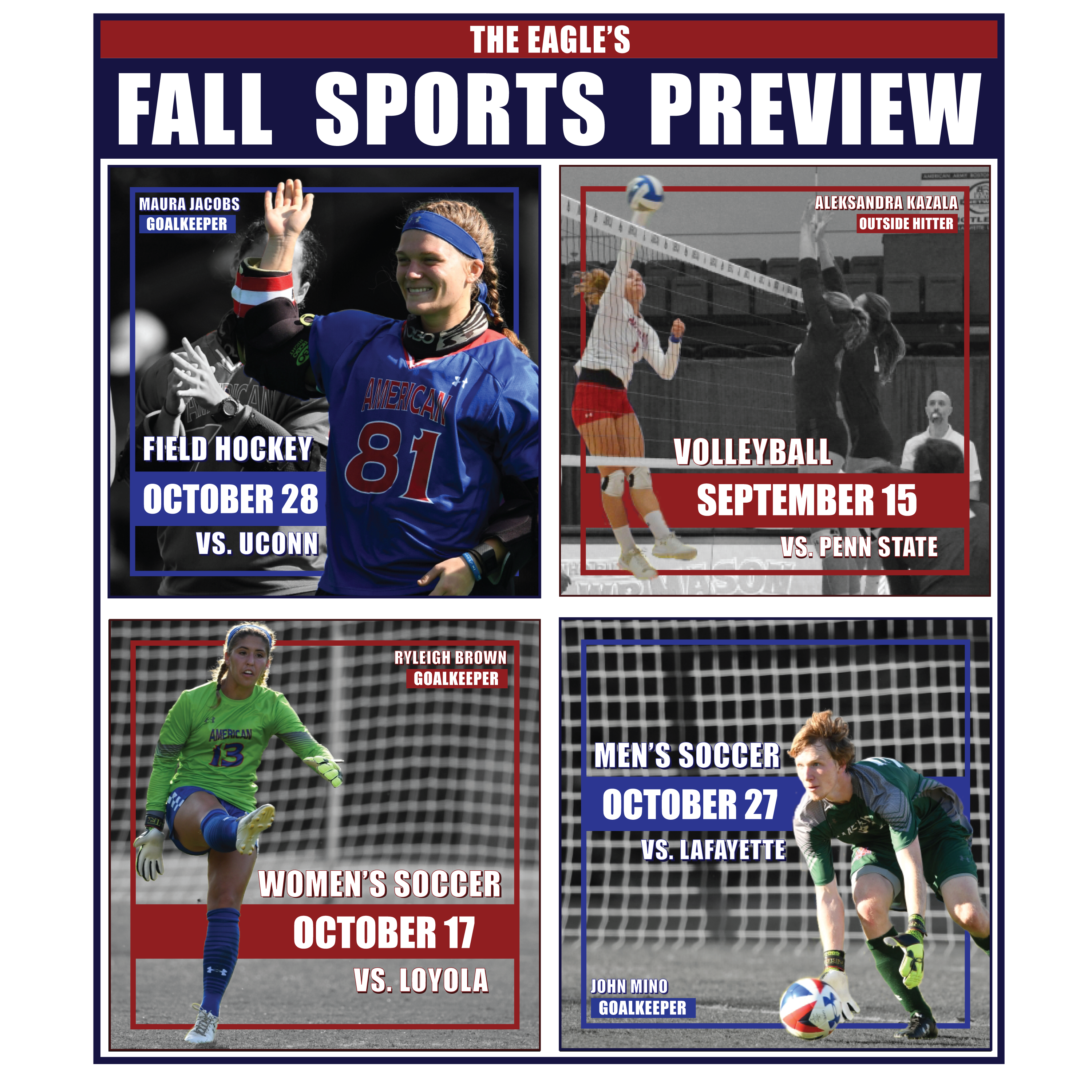What to watch out for from AU volleyball, field hockey and soccer this fall