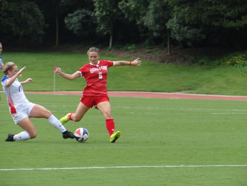 AU women's soccer ties against Boston in double overtime