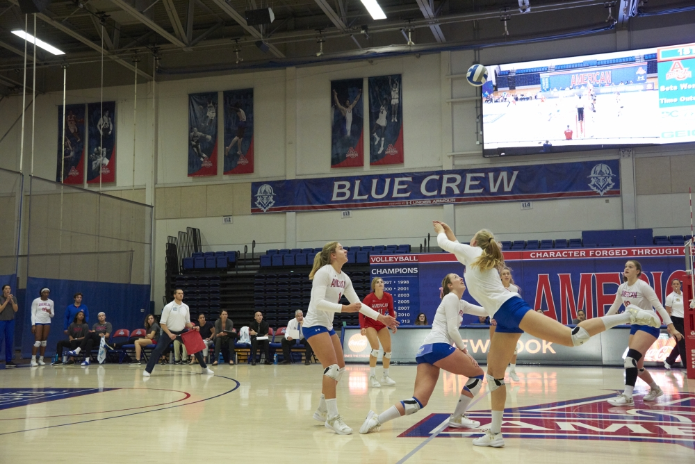 AU volleyball earns first conference loss against Lehigh