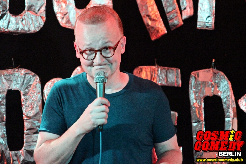 AU professor Doug Hecox took comedy performance to Germany this summer