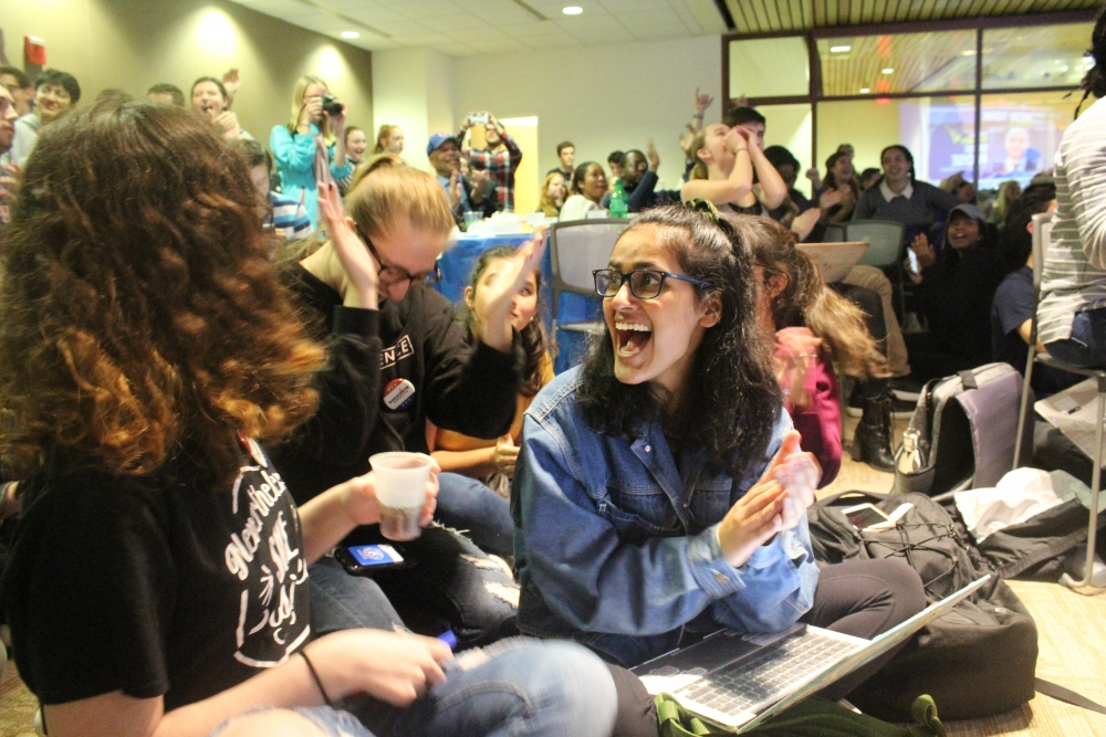 How AU students reacted to the 2018 midterm results Tuesday night