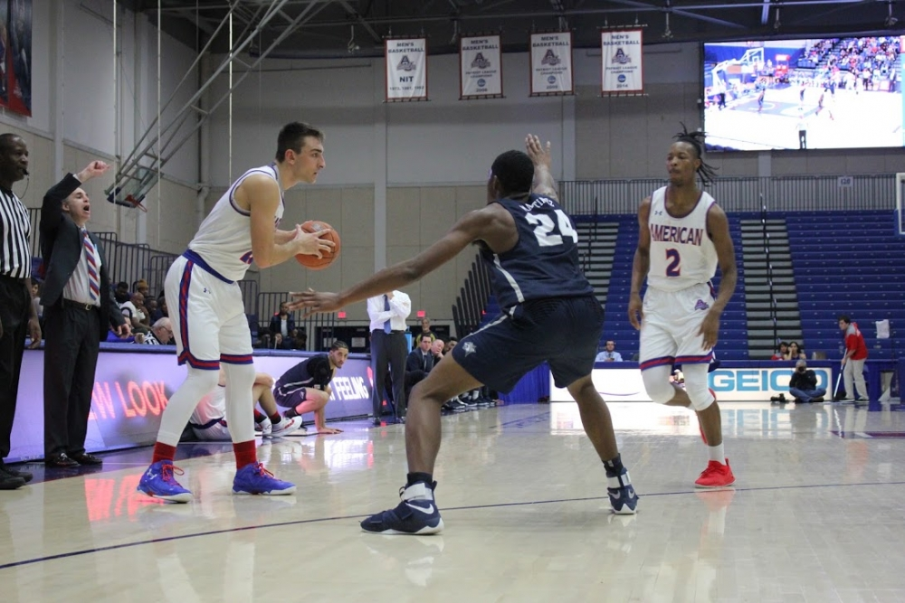 Strong first half boosts AU men's basketball to victory against St. Francis