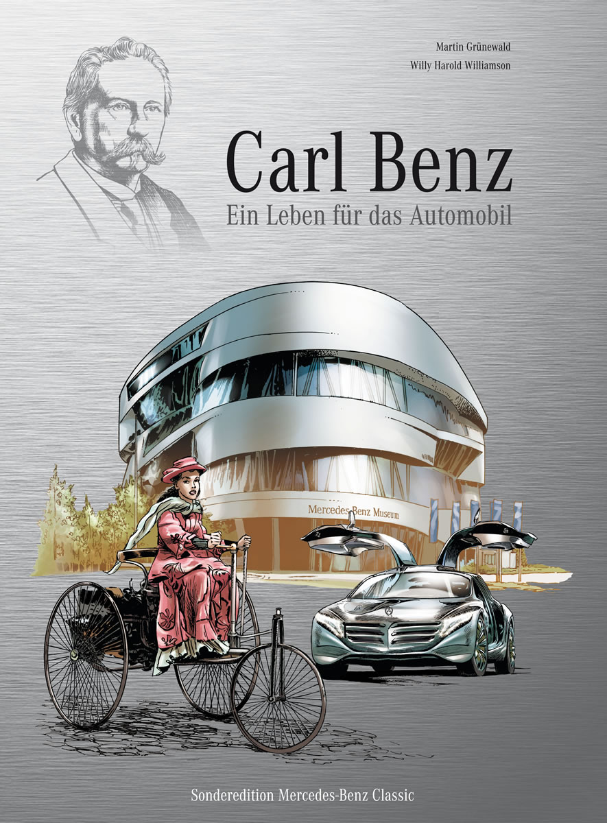 "Automotive history in Comic-book form:""Carl Benz - a life dedicated to cars"". Copyright Daimler AG"
