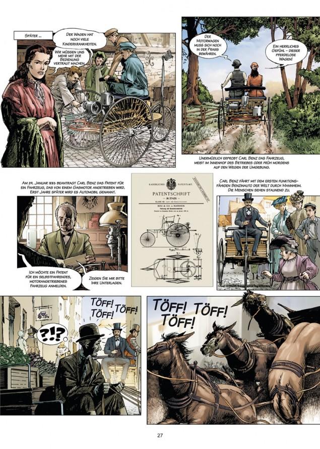 Carl Benz - a life dedicated to cars comic book