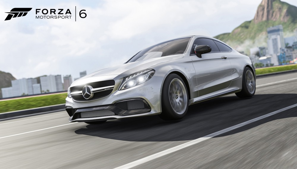 "Mercedes-AMG C 63 S Coupé featured in the racing simulation game ""Forza Motorsport 6"""