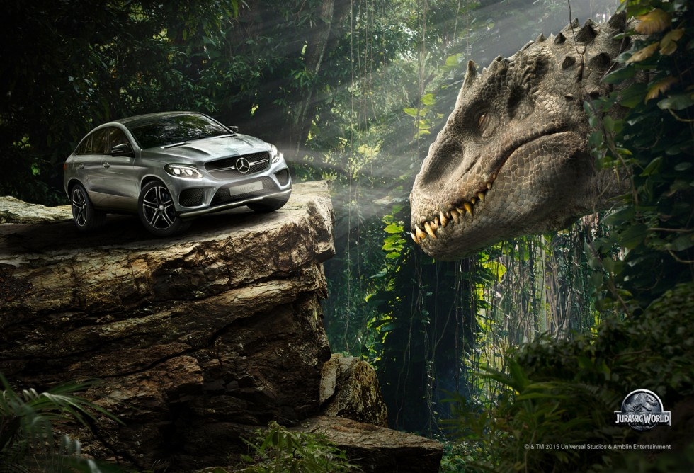Alpha Car – Watch the new Mercedes-Benz GLE Coupé in Jurassic World. In theaters June 12th.