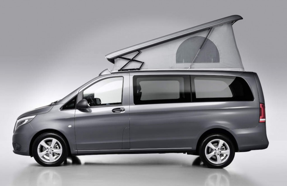 Rear-opening SCA pop-up roof for Mercedes-Benz V-Class and Vito