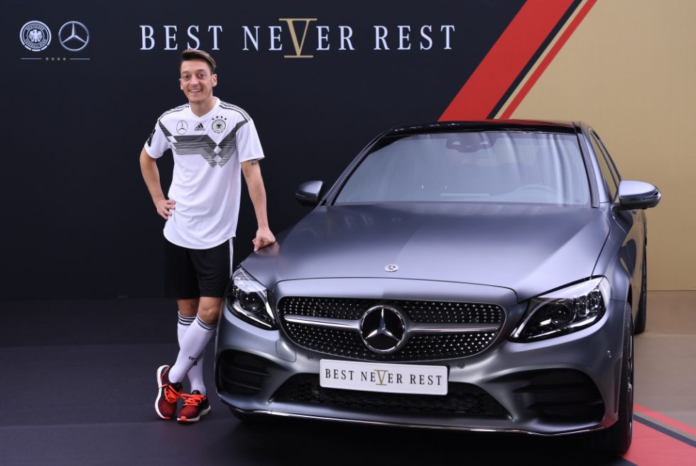 Mesut Özil (Germany) at the Mercedes-Benz C-class.