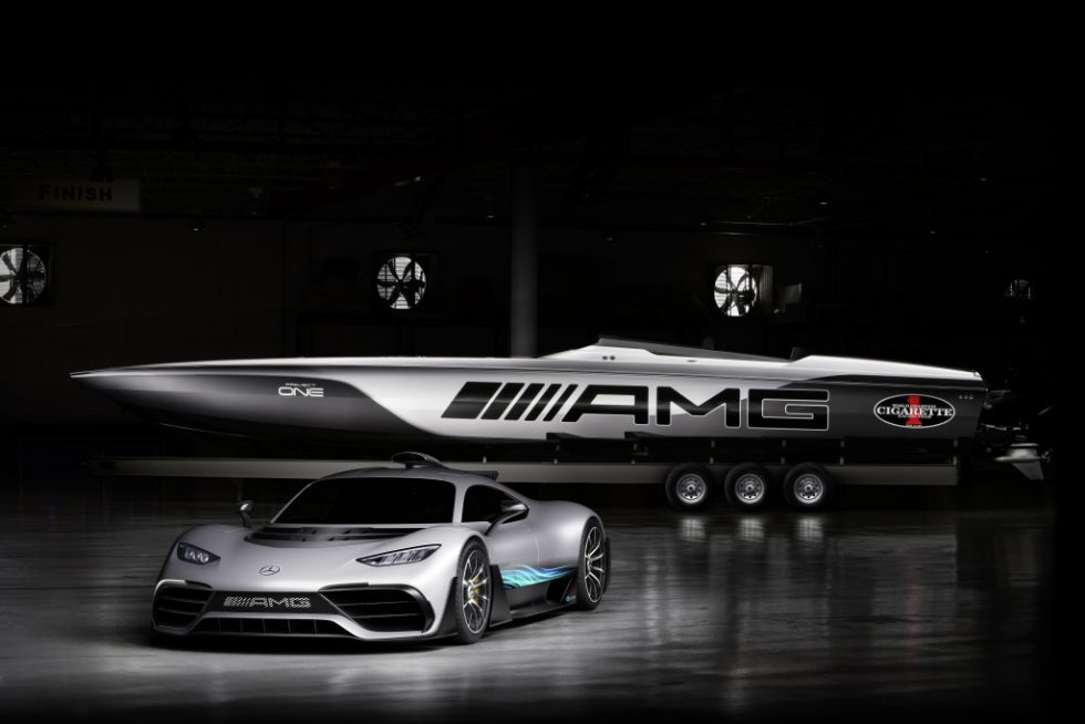 """""""By directly translating Formula 1 technology from the track to the street, the Mercedes-AMG Project ONE is our most ambitious and awe-inspiring vehicle yet. It is incredible to see our vision reimagined for the water in such an impressive and highly compelling form"""", says Tobias Moers, Chairman of the Board of Management of Mercedes-AMG GmbH."""