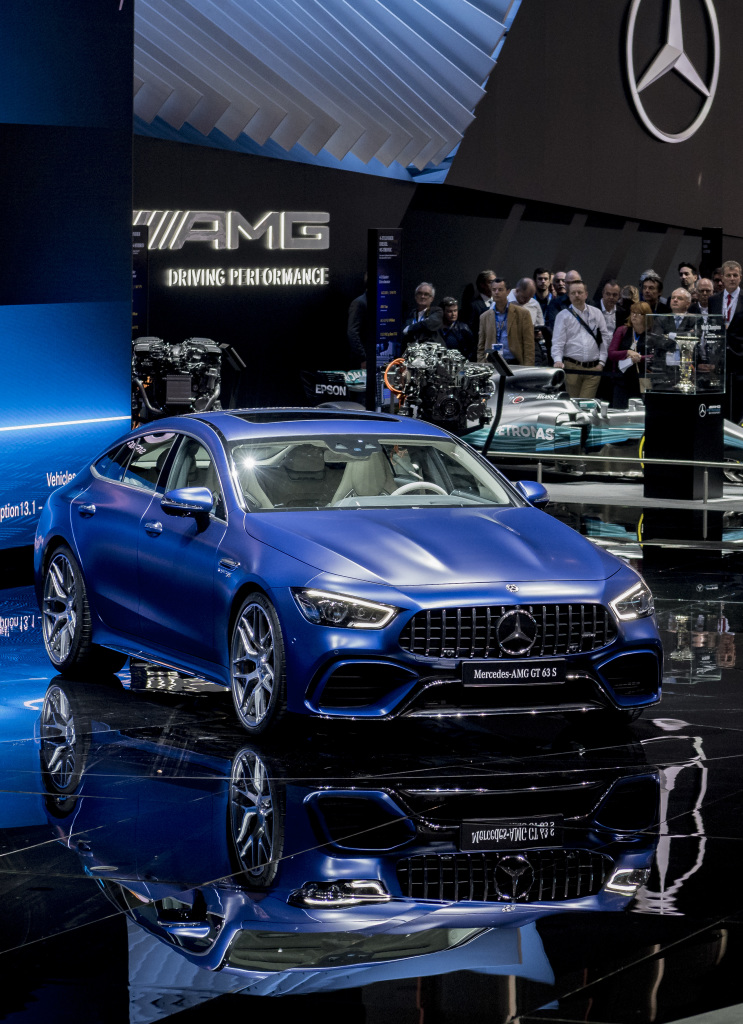 Mercedes-AMG GT 4-Door Coupé: performance meets design; More space, more power, more goose pimples – the new Mercedes-AMG GT 4-Door model delivers driving experiences in new dimensions and extends the AMG model family. The new coupé is the first four-door sports car from Affalterbach and draws directly on the legendary SLS and AMG GT models of success. As another vehicle developed autonomously by Mercedes-AMG it combines unique design, high comfort and outstanding sports car engineering with an athletic, four-door fastback layout. It thus offers more space and more potential uses. Systematic expansion of the AMG GT family with the 4-door Coupé opens up the sports car segment to those lookin