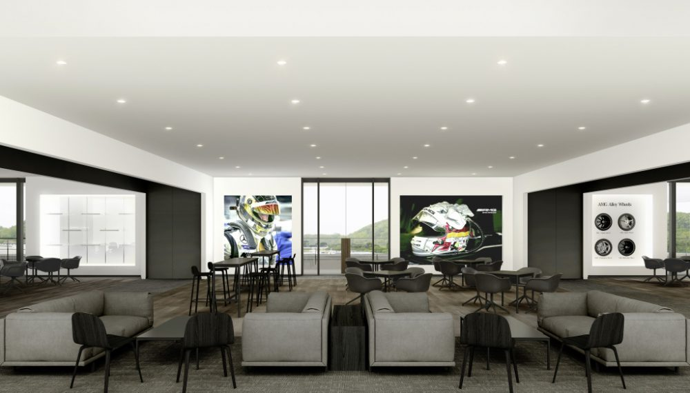 The AMG Lounge provides an inviting setting for community discussions and personal exchanges with AMG experts.