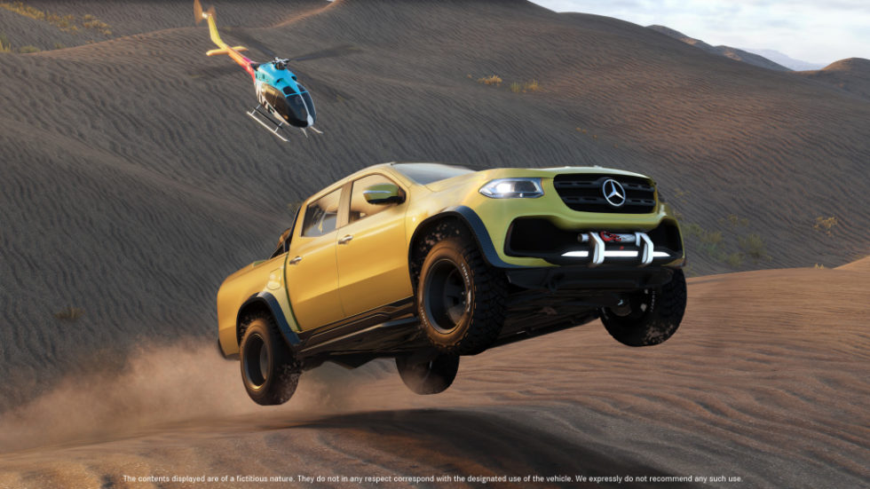 """The Mercedes-Benz X-Class has its own mission in the new video game """"The Crew 2"""" and is the off-road highlight of the game. """"The Crew 2"""" goes on sale on 29 June 2018. The Closed Beta Version will be available from 31 May. For this purpose, Mercedes-Benz Vans is making 5000 access codes exclusively available on its social media channels as of now."""