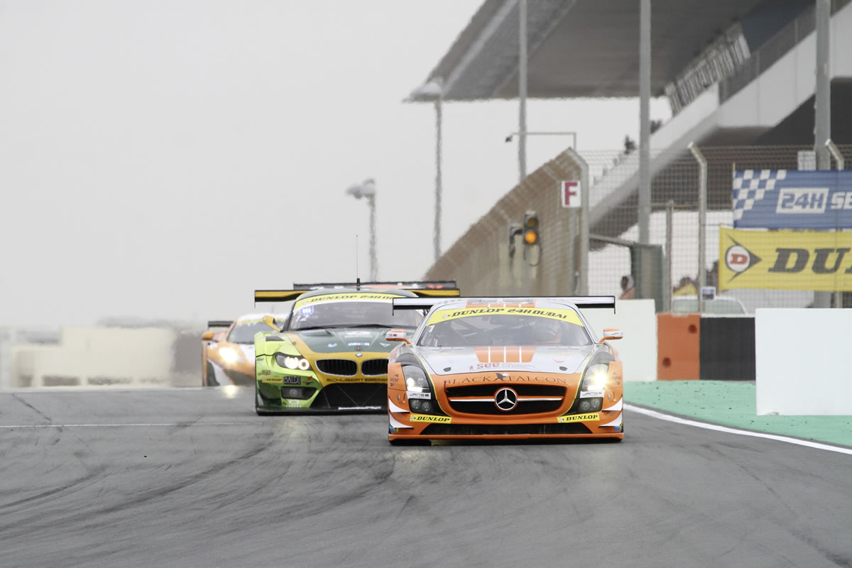 Black Falcon Team Victorious with SLS AMG GT3 in 24-Hour Race in Abu Dhabi