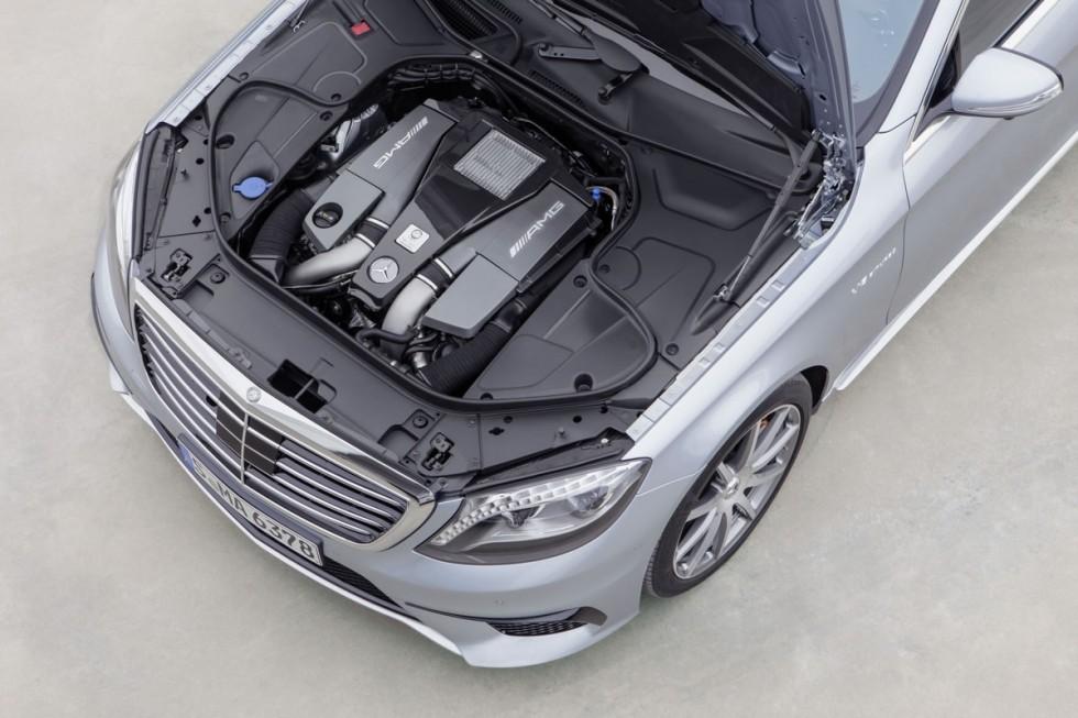 2014 Mercedes S63 AMG engine