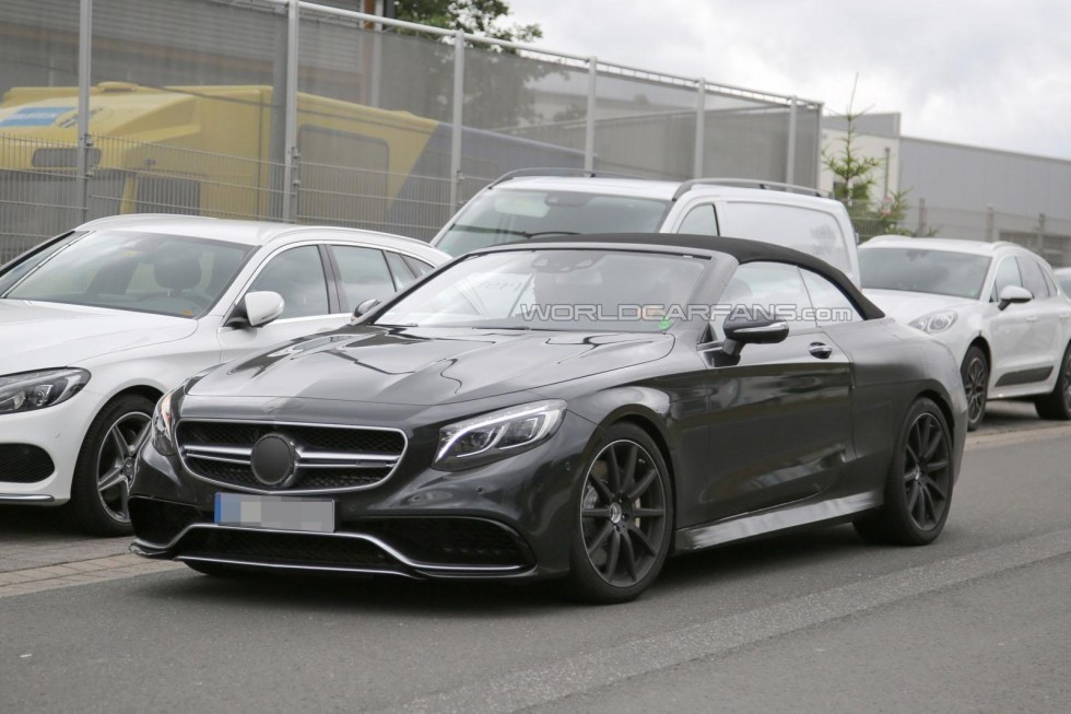 The 2016 Mercedes S63 AMG Cabrio has been spied wearing very little disguise