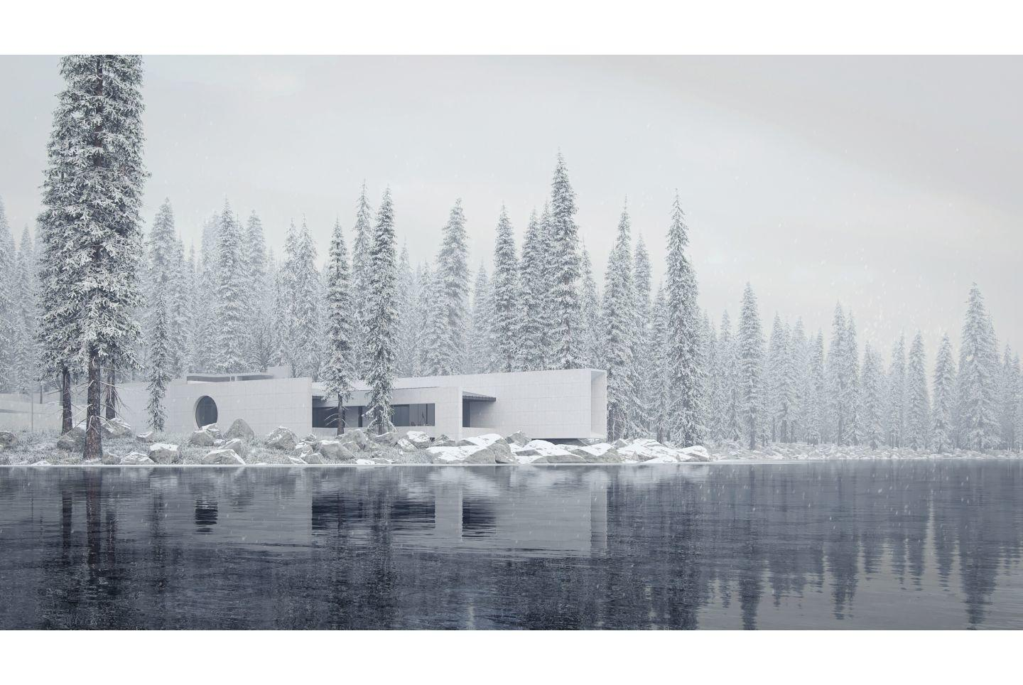 Sergey Makhno Architects Father's House Lake