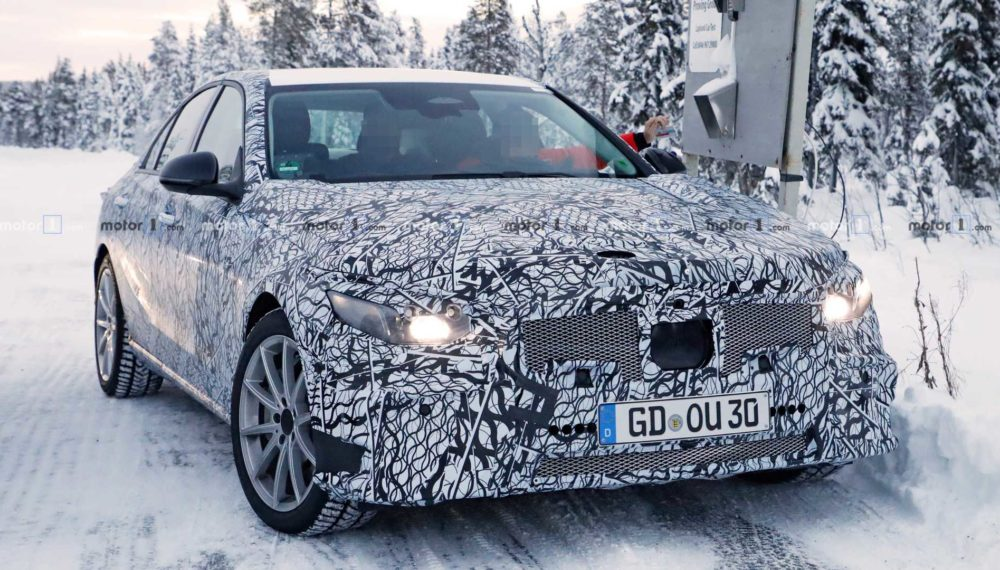 Winter Spy Photos of the 2021 Mercedes-Benz C-Class Emerge
