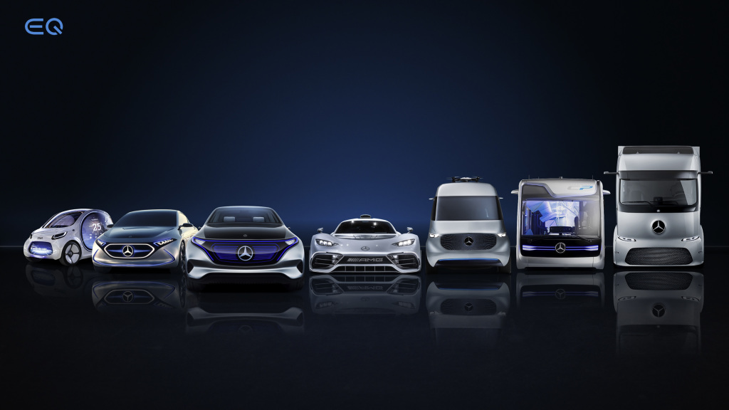 Electric Line-Up Daimler AG
