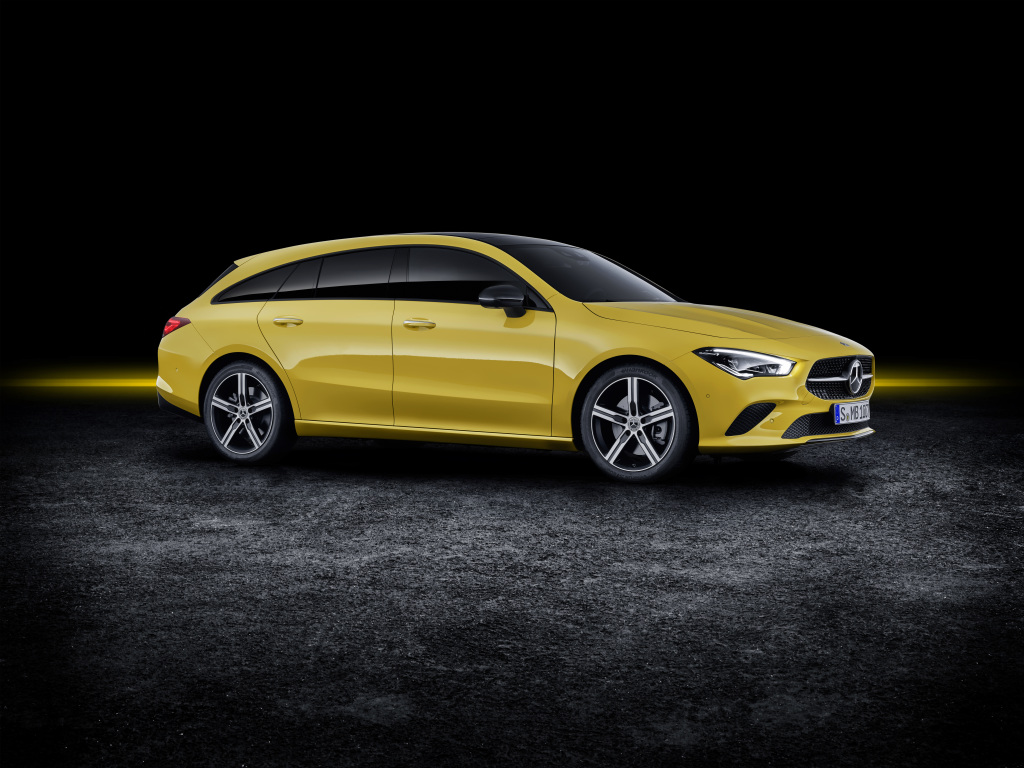 Mercedes-Benz CLA Shooting Brake, X118, 2019, exterior, sun yellow